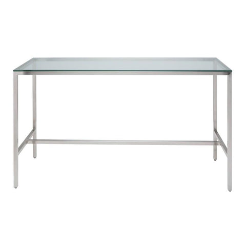 72-Inch Verona Bar Table with Clear Tempered Glass Top by Nuevo