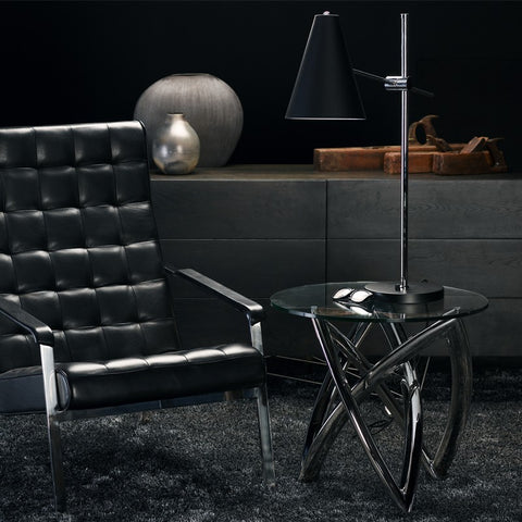 Martina Side Table in Polished Stainless Steel design by Nuevo