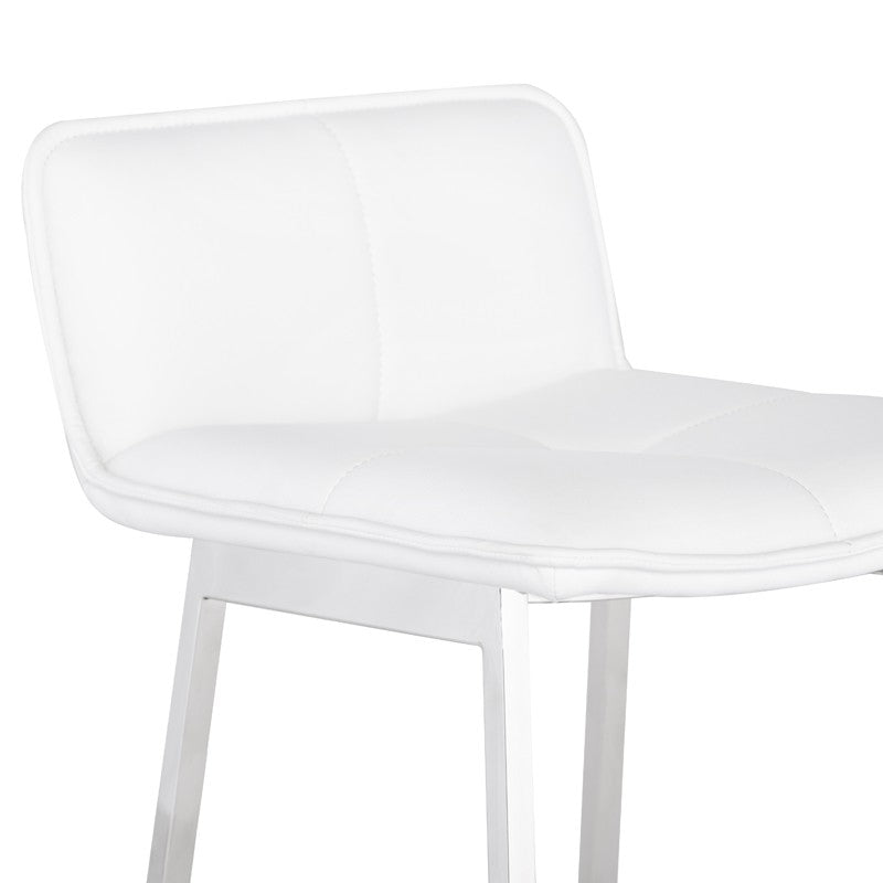 Sabrina Counter Stool in White design by Nuevo