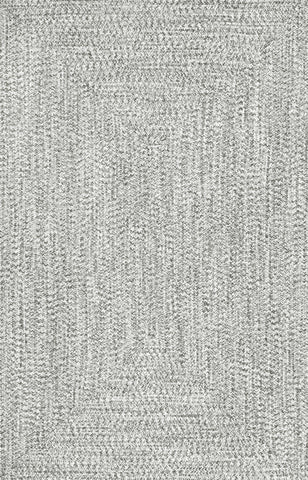 Braided Lefebvre Rug in Salt & Pepper design by NuLoom
