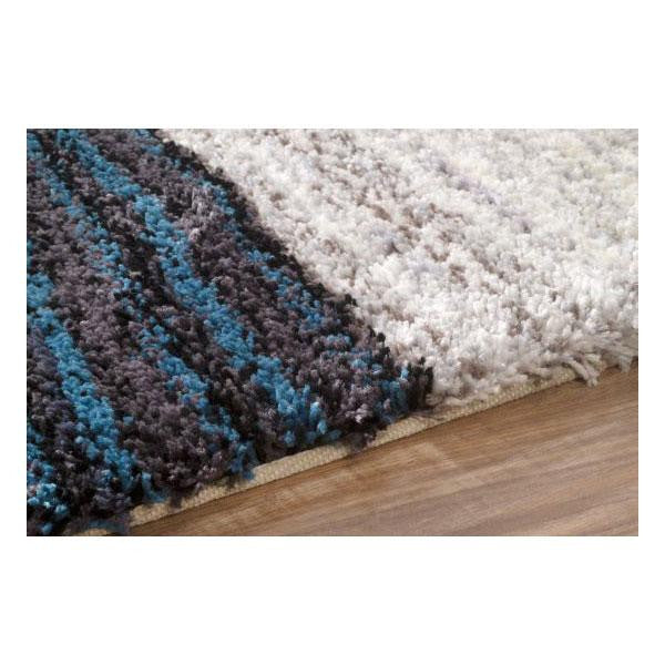 Hand Tufted Classie Shag Rug in Blue & Multi design by NuLoom