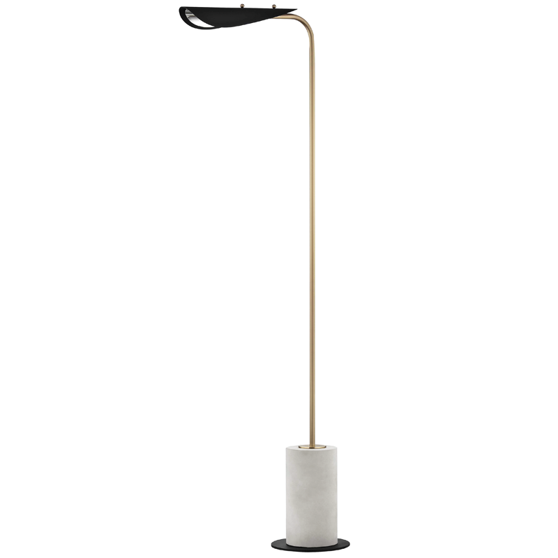 Layla Floor Lamp With A Concrete Base