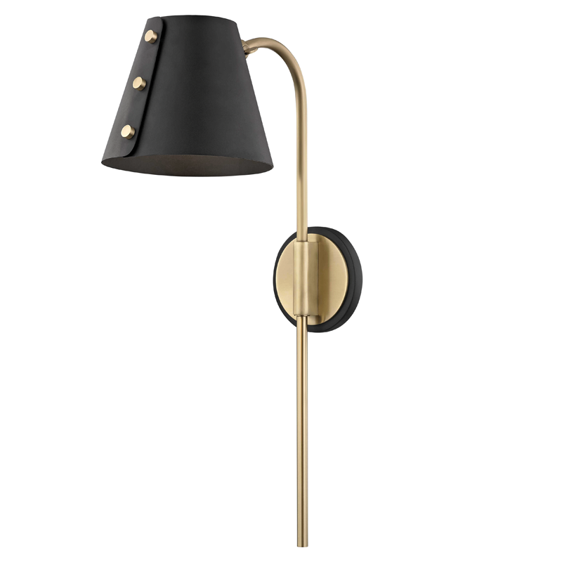 Meta 1 Light Wall Sconce With Plug by Mitzi