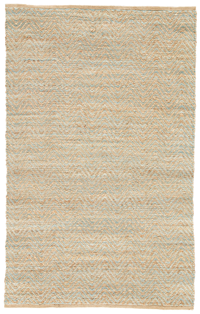 Reap Natural Chevron Tan & Green Area Rug