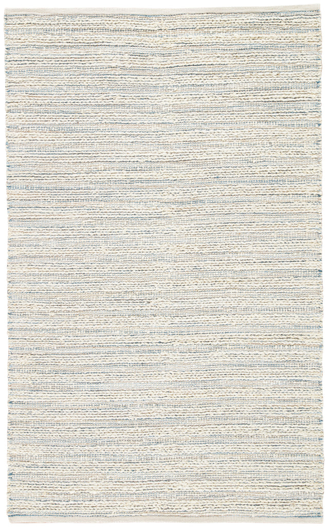 Canterbury Natural Stripe White & Blue Area Rug design by Jaipur