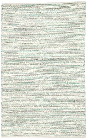 Canterbury Natural Stripe White & Turquoise Area Rug design by Jaipur