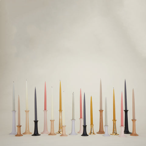 Simple Candlestick in Various Finishes & Sizes by Hawkins New York