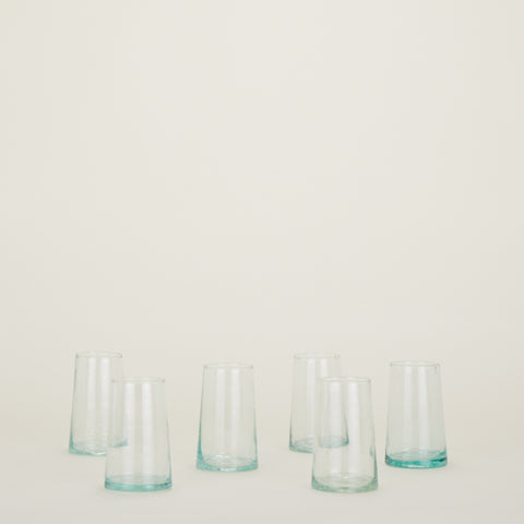 Set of 6 Recycled Glassware Large Tumblers by Hawkins New York