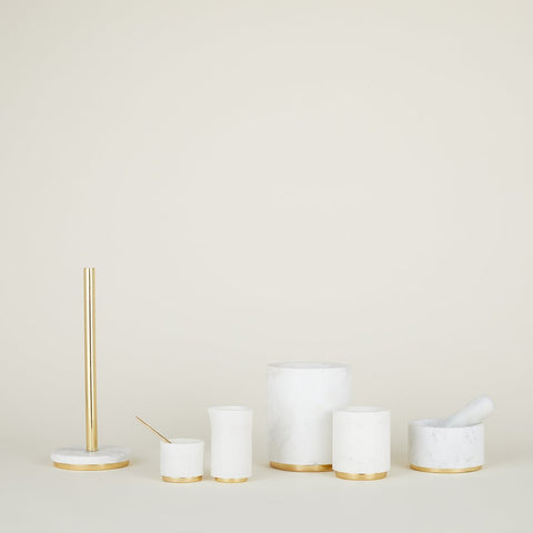 Mara Marble + Brass Creamer by Hawkins New York