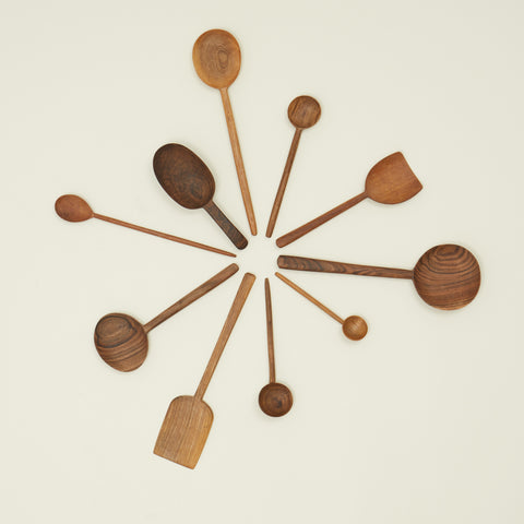 Simple Walnut Spoon in Various Sizes by Hawkins New York