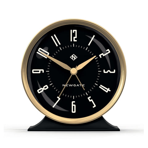 Hotel Alarm Clock Gold with Black Face design by Newgate