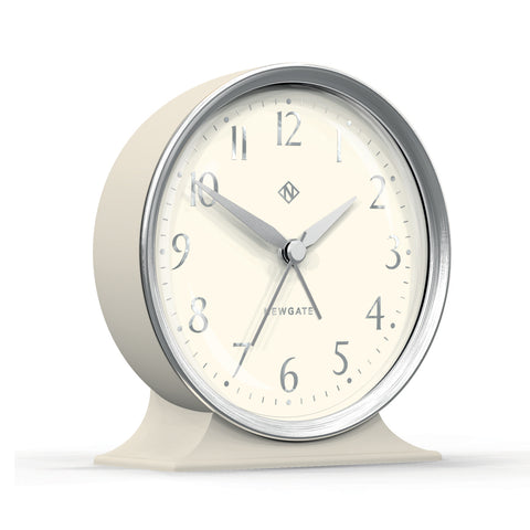 Hotel Alarm Clock Silver with White Face design by Newgate