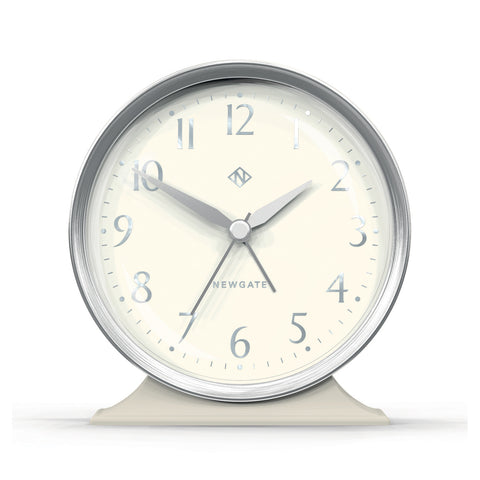 Hotel Alarm Clock Silver with White Face