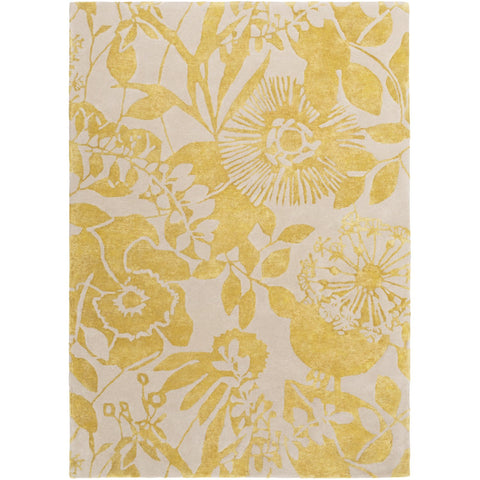 Harlequin HQL-8043 Hand Tufted Rug in Mustard & Khaki by Surya