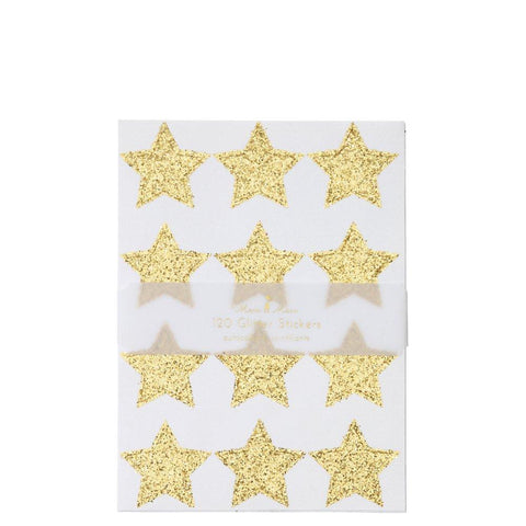 Gold Glitter Stars Sticker Sheets