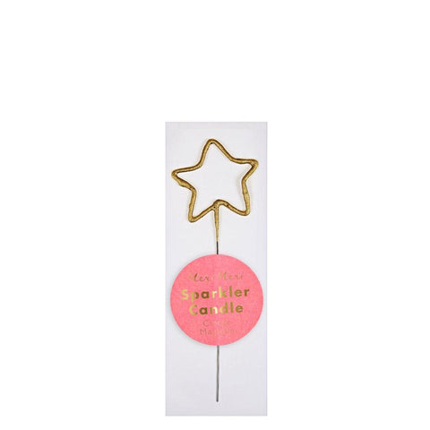 Mini Gold Sparkler Star Candle