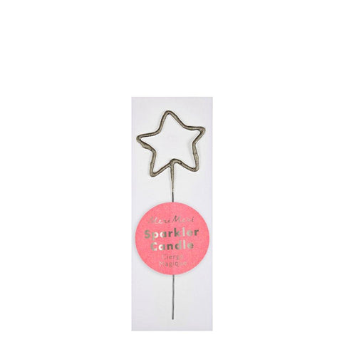 Mini Silver Sparkler Star Candle