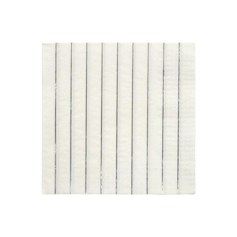 Silver Stripe Large Napkins