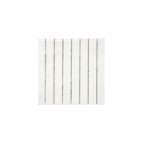 Silver Stripe Small Napkins