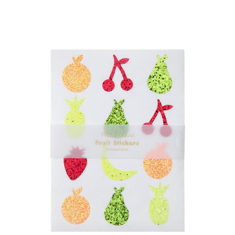Glitter Fruit Sticker Sheets