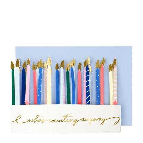 Candle Concertina Card