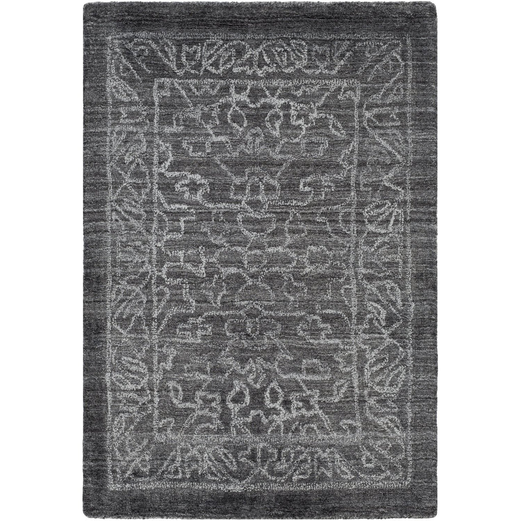 Hightower HTW-3002 Hand Knotted Rug in Charcoal & Light Gray by Surya