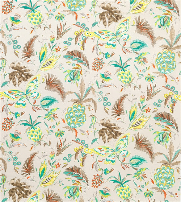 Habanera Fabric in Ivory and Stone by Matthew Williamson for Osborne & Little