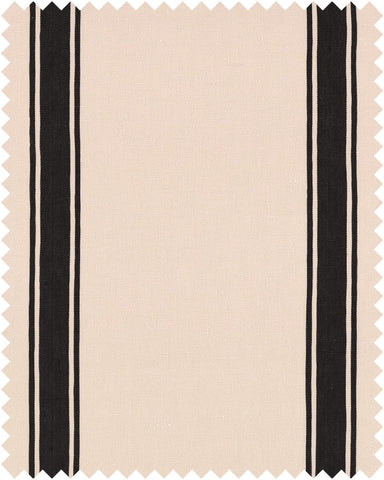 Hadju Stripe Heavy Linen Fabric in Black and White by Mind the Gap