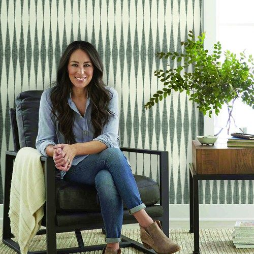 Handloom Wallpaper from Magnolia Home Vol. 2 by Joanna Gaines