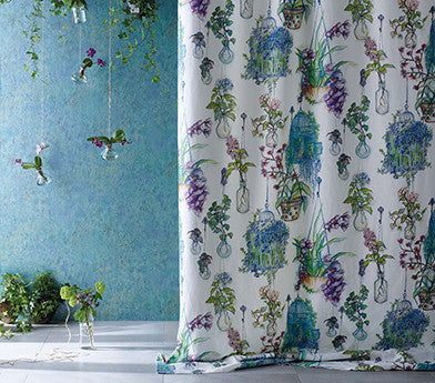 Hanging Gardens Fabric from the Enchanted Gardens Collection by Osborne & Little