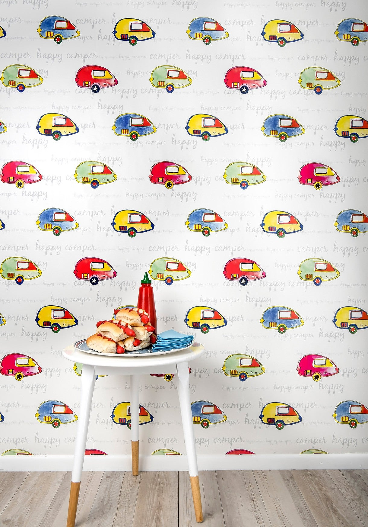 Happy camper wallpaper from the tastemakers collection for Wallpaper happy home designer