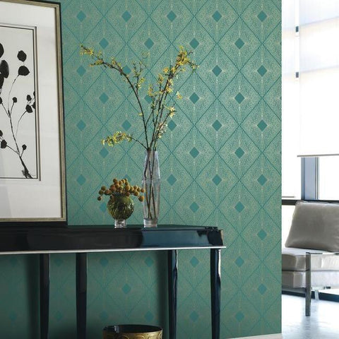 Harlowe Wallpaper by Antonina Vella for York Wallcoverings