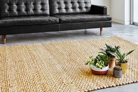 Harvest Rug in Ochre design by Gus Modern