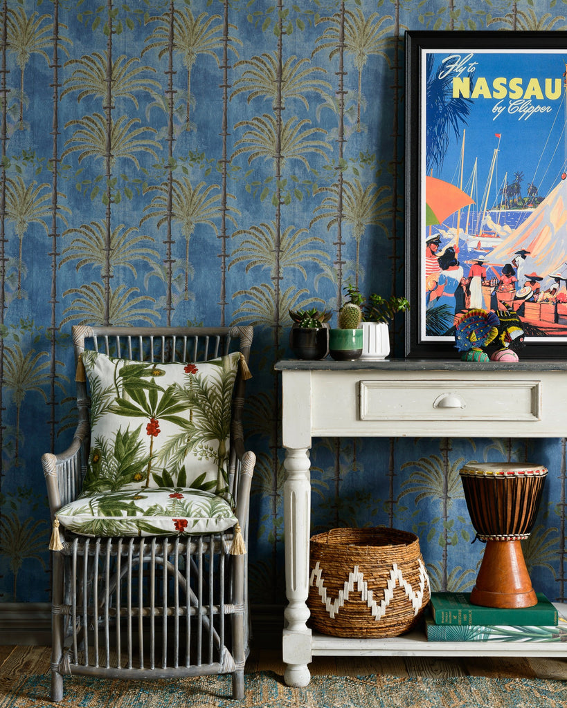 Havana Wallpaper in Regatta Blue from the Wallpaper Compendium Collection by Mind the Gap