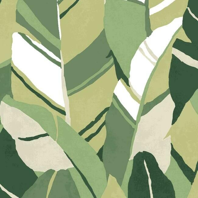 Hearts Of Palm Peel & Stick Wallpaper in Green by RoomMates for York Wallcoverings