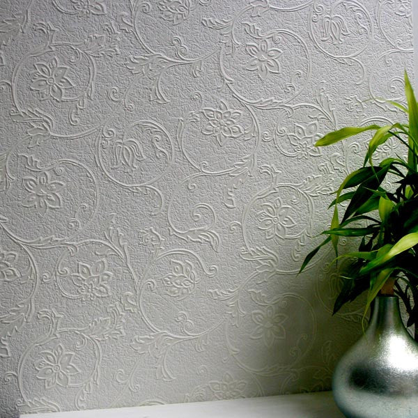 Heaton Paintable Textured Wallpaper design by Brewster Home Fashions