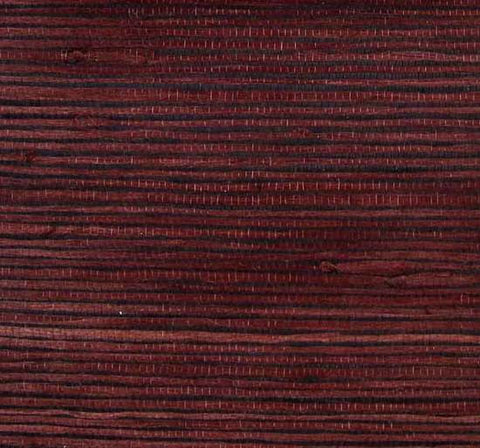 Heavy Jute Wallpaper in Maroon and Black from the Winds of the Asian Pacific Collection by Burke Decor