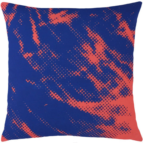 Andy Warhol Art Pillow in Red & Blue design by Henzel Studio