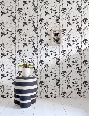 Herbario Wallpaper in Cinder design by Aimee Wilder