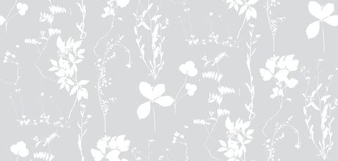 Herbario Wallpaper in Dove design by Aimee Wilder