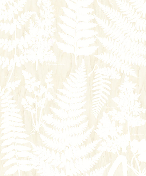 Herbarium White Wall Mural by Eijffinger for Brewster Home Fashions