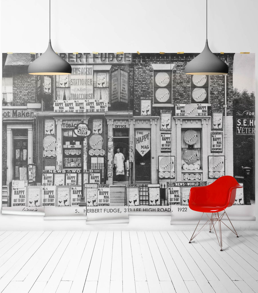 Sample Herberts Off Licence Wall Mural from the Erstwhile Collection by Milton & King