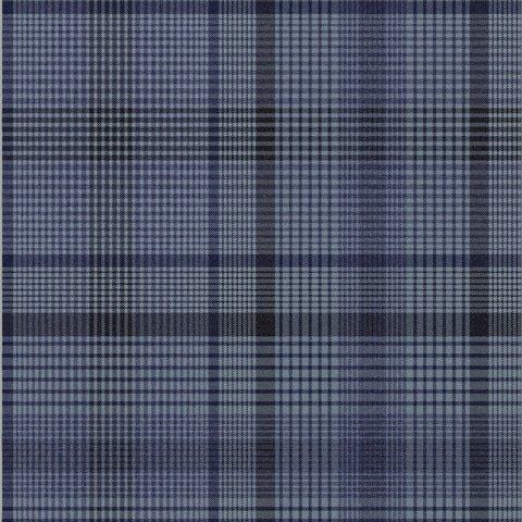 Heritage Plaid Wallpaper in Blue from the Exclusives Collection by Graham & Brown