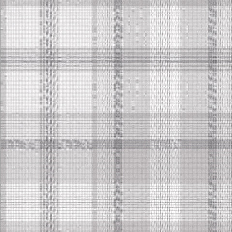 Heritage Plaid Wallpaper in Grey from the Exclusives Collection by Graham & Brown