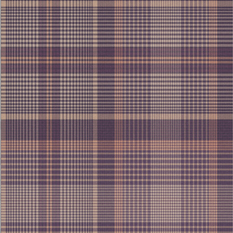 Heritage Plaid Wallpaper in Plum from the Exclusives Collection by Graham & Brown