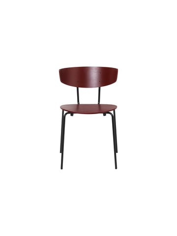Herman Chair in Red Brown Veneer by Ferm Living