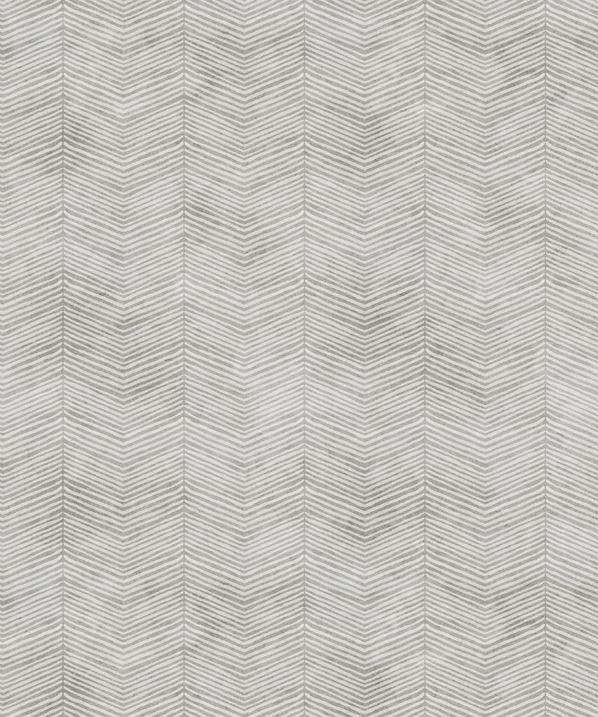 Sample Herringbone Wallpaper in Beige by Bethany Linz for Milton & King