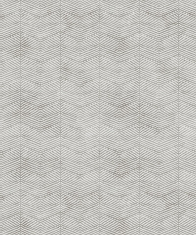 Herringbone Wallpaper in Beige by Bethany Linz for Milton & King