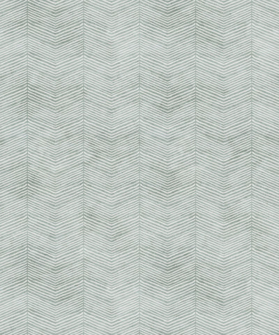Herringbone Wallpaper in Sea Spray by Bethany Linz for Milton & King