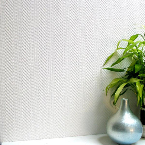 Herringbone Paintable Anaglypta Pro Wallpaper design by Brewster Home Fashions